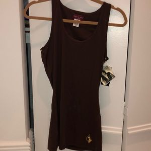 BRAND NEW BABY PHAT BROWN TANK TOP WITH GOLD!